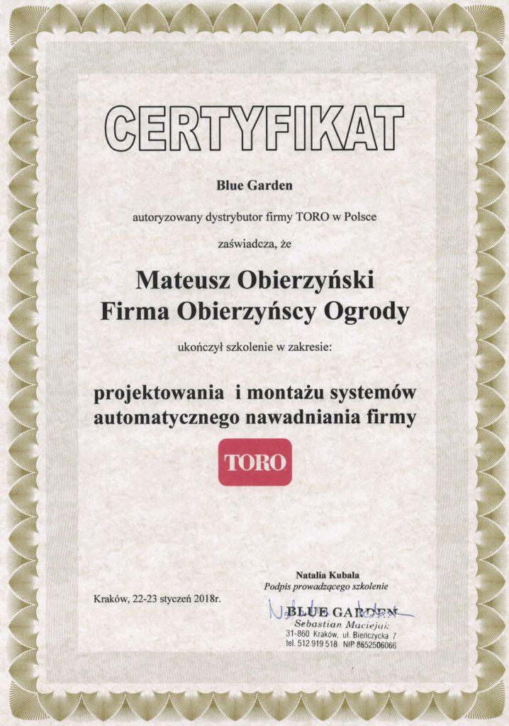 certyfikat projektowania i montażu systemów automatycznego nawadniania mateusz obierzynski.jpg